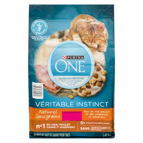 Purina ONE True Instinct Grain Free Dry Cat Food Natural Chicken 1.45 kg