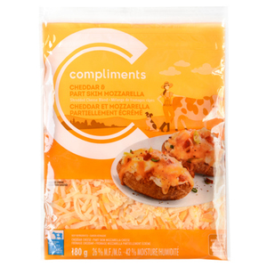 Compliments Cheddar And Mozzarella Shredded Cheese 180 g
