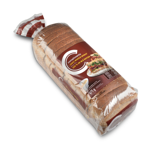 Compliments 100% Whole Wheat Bread 675 g