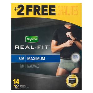 Depend Real Fit Men Small/Medium Underwear 14 Count