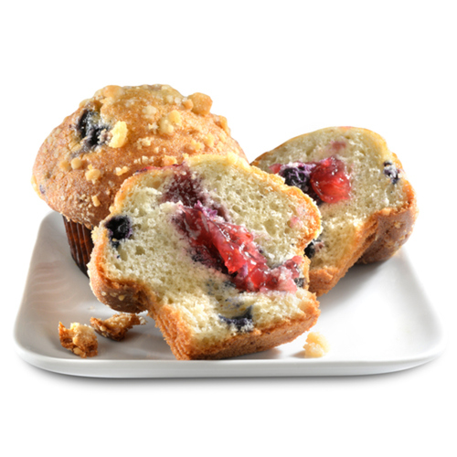 Compliments Muffins Double Berry Greek Yogurt With Raspberry Filling 440 g