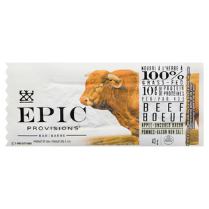 Epic Provisions Beef Apple Uncured Bacon Bar 43 g