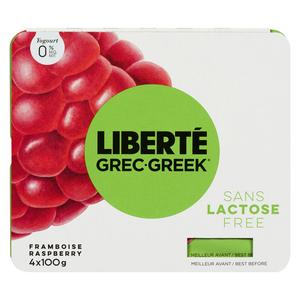 Liberté Greek Raspberry 0% Yogurt 400 g