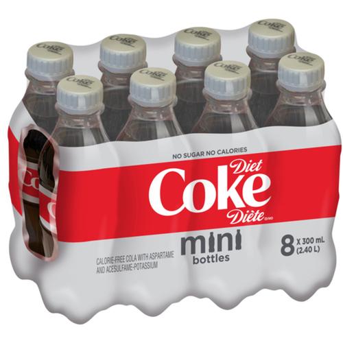 Diet Coke Mini Bottles 300 mL