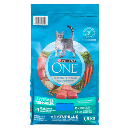 Purina ONE Dry Cat Food Natural Sensitive Systems 1.8 kg