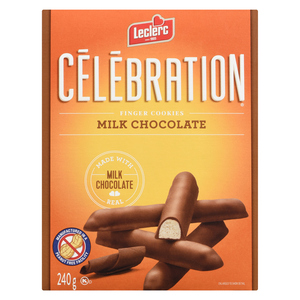 Leclerc Celebration Milk Chocolate Cookie Stick 240 g