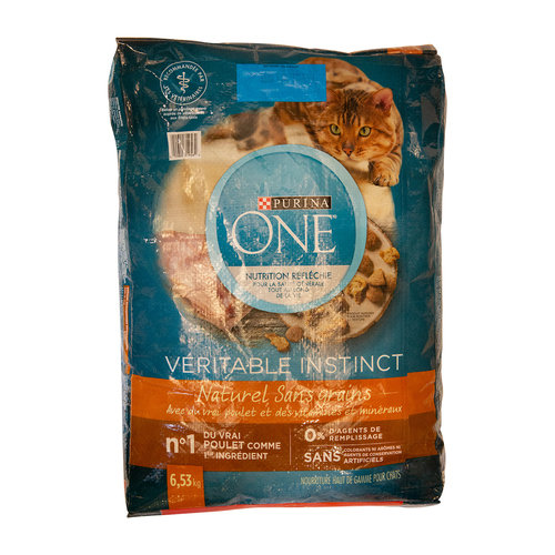 Purina ONE True Instinct Grain-Free Natural Cat Food Chicken 6.53 kg