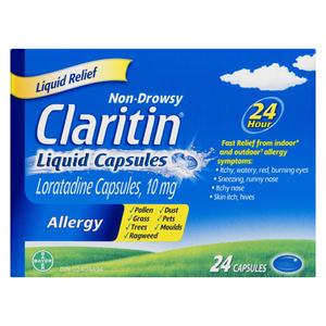 Claritin Rapid Dissolve Liquid Antihistamine 10 x 24 Capsules