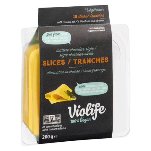 Violife Mature Cheddar Style Slices 200g