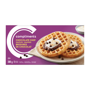 Compliments Chocolate Chip Waffles 8 Pack 280 g