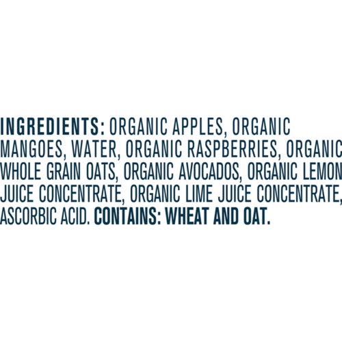Gerber Organic Purée Apple, Mango, Raspberry & Avocado With Oats 99 g