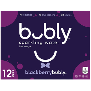 Bubly Sparkling Water Blackberry 12 x 355 ml