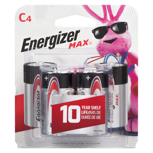 Energizer Max C4 Batteries Econo Pak 4 EA