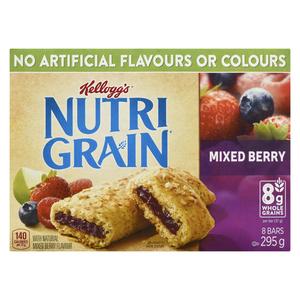 Kellogg's Nutrigrain Cereal Bars Mixed Berry  8 x 37 g