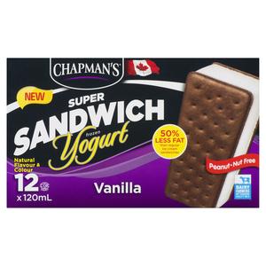Chapman's Super Vanilla Frozen Yogurt Sandwich 12 EA