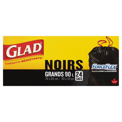 Glad Waste Forceflex Large Black Garbage Bags 24 EA