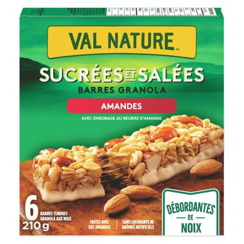 Nature Valley Granola Bars Sweet And Salty Chewy Nut Almond 6 Count 210 g