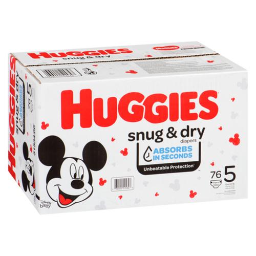 Huggies Snug & Dry Size 5 76 Giga Diapers
