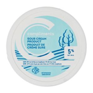 Compliments Sour Cream Light 5% 250 ml