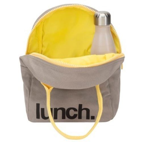 Fluf Grey Zippered Lunch Bag