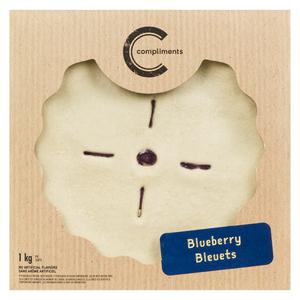 Compliments Frozen Blueberry Pie 9-inch 1 kg