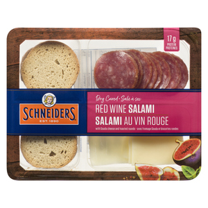 Schneiders Dry Cured Red Wine Salami Snack Kit 75 g