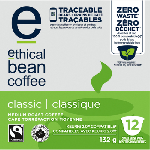 Ethical Bean Classic Coffee 12 K-Cups 132 g