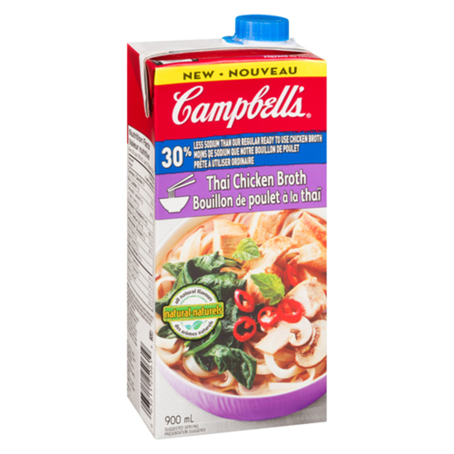 Campbell's Less Salt Thai Chicken Broth 900 ml