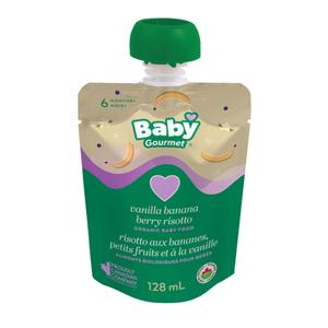 Baby Gourmet Organic Vanilla Banana Berry Risotto Baby Food 128 mL