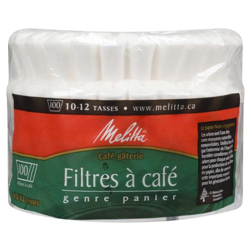 Melitta White Basket Style Coffee Filters 100 EA