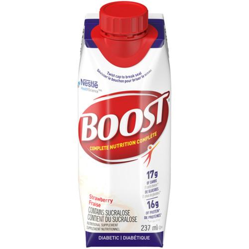 Boost Diabetic Drink Strawberry 6 x 237 ml
