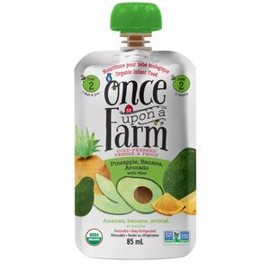 Once Upon a Farm Organic Baby Food Pineapple, Banana & Avocado With Mint 85 ml