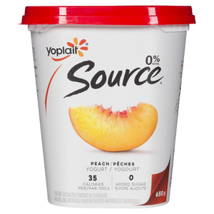 Yoplait Source Yogurt Peach 650 g