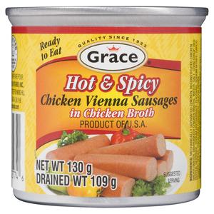 Grace Hot & Spicy Chicken Vienna Sausages 113 g