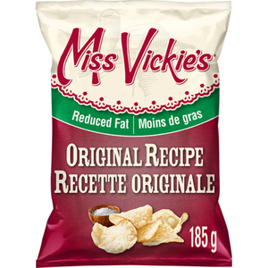 Miss Vickie's Kettle Cooked Potato Chips 40% Reduced Fat Original 185 g