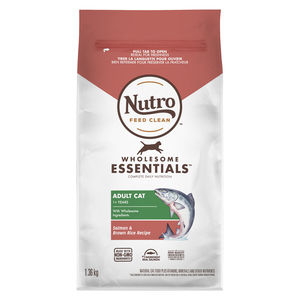 Nutro Wholesome Essentials Salmon & Brown Rice Adult Cat Food 1.36 kg