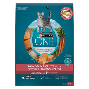 Purina ONE Dry Cat Food Natural Salmon & Rice 7.2 kg