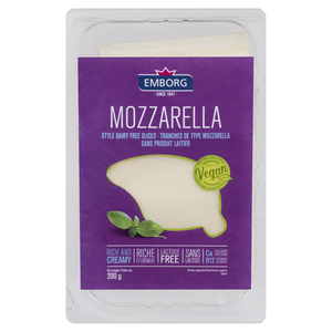 Emborg  Non-Dairy Mozzarella Style Cheese Slices 200 g