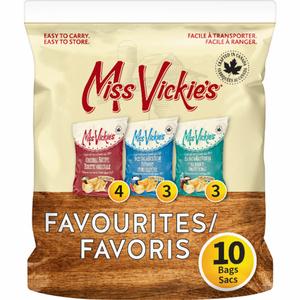 Miss Vickie's Favourites Potato Chips 3 Flavours Original, Salty & Vinegar 10 x 24 g