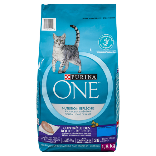 Purina ONE Dry Cat Food Natural Hairball Formula 1.8 kg