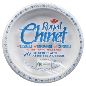 Royal Chinet Dessert Plate 6.75-inch 40 EA
