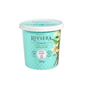 Riviera Less Sugar Yogurt Vanilla Set Style 750 g