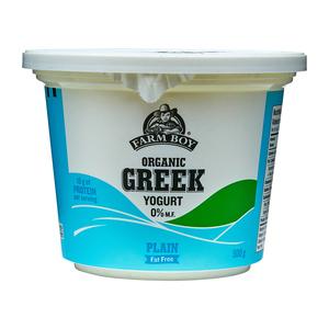 Farm Boy Organic Greek Yogurt Plain 500 g