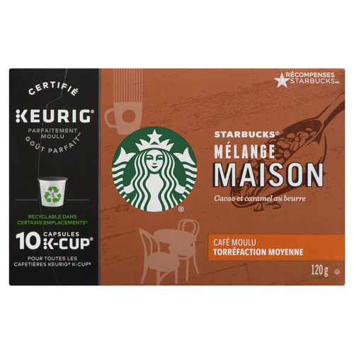 Starbucks House Blend Coffee K-Cup Pods 10 EA