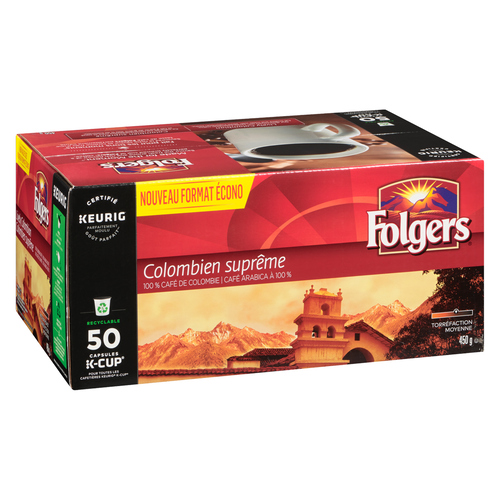 Folgers Coffee Lively Columbian 50 K-Cups 450 g