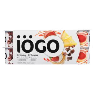 Iögo Creamy Strawberry Shortcake Lemon Pie Crème Caramel Mocaccino 1.5% Yogurt 16 x 100 g