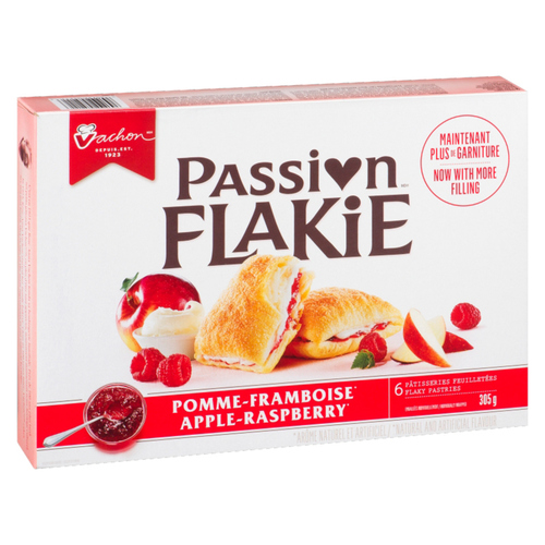 Vachon Passion Flakie Flaky Pastries Apple-Raspberry Pack of 6