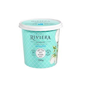 Riviera No Sugar Added Yogurt Plain Set Style750 g