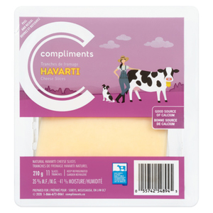 Compliments Havarti Cheese Slices 210 g