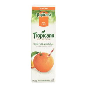 Tropicana Pure Premium Ornae Juice No Pulp 946 ml